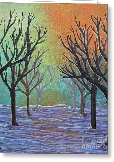 Greeting Card featuring the painting Winter Solitude 11 by Jacqueline Athmann