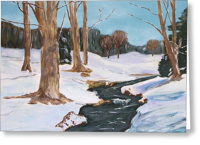 Winter Solitude Greeting Card