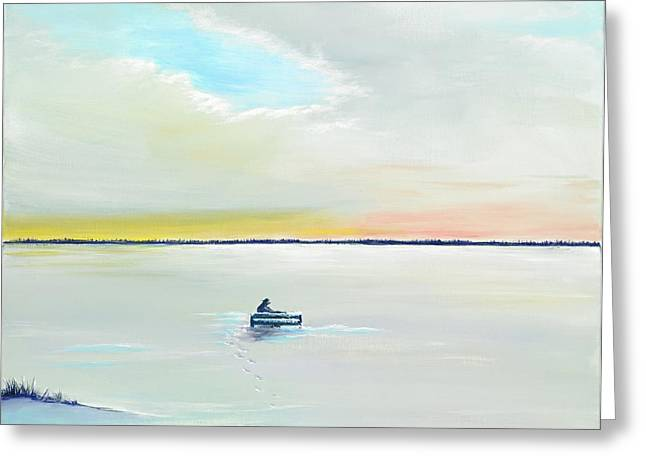 Winter Solitude Greeting Card by David Junod