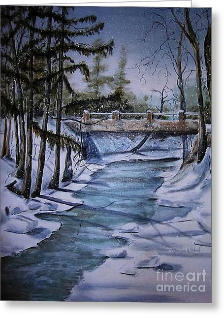 Winter Solitude Greeting Card by Marylyn Wiedmaier