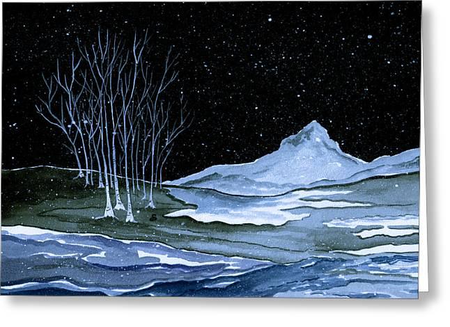 Winter Solstice Greeting Card by Brenda Owen