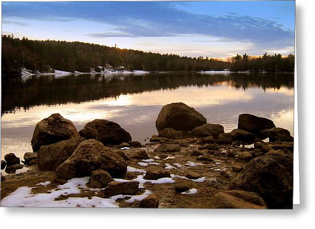 Greeting Card featuring the photograph Winter Sunset by Bruce Carpenter