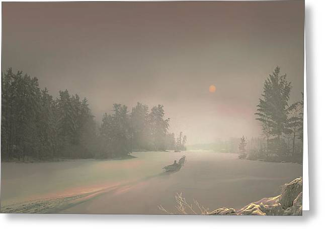 Winter Sunset Greeting Card by Igor Zenin