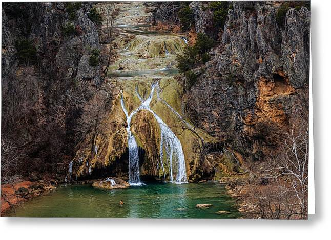 Winter Time At The Falls Greeting Card by Doug Long