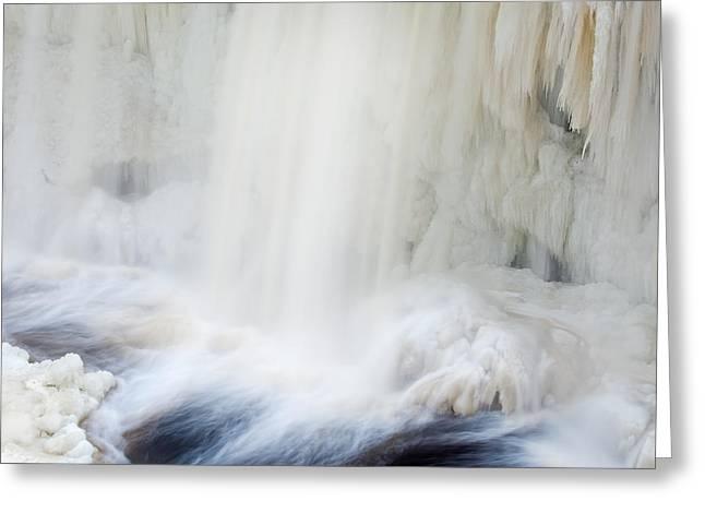 Winter Upper Tahquamenon Falls Greeting Card