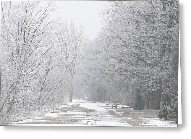 Greeting Card featuring the mixed media Winter Walkway by Bruce Ritchie