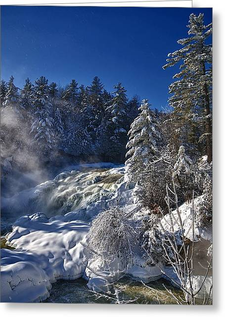 Winter Waterfalls Greeting Card