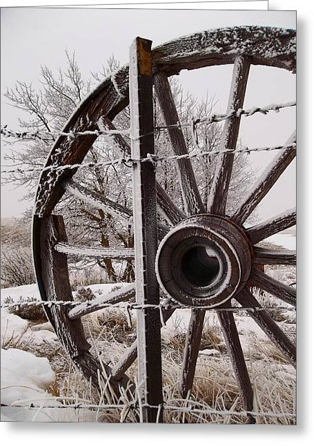 Winter Wheel Greeting Card