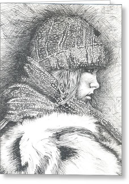 Winter Winter.... So What Greeting Card by Jovica Kostic