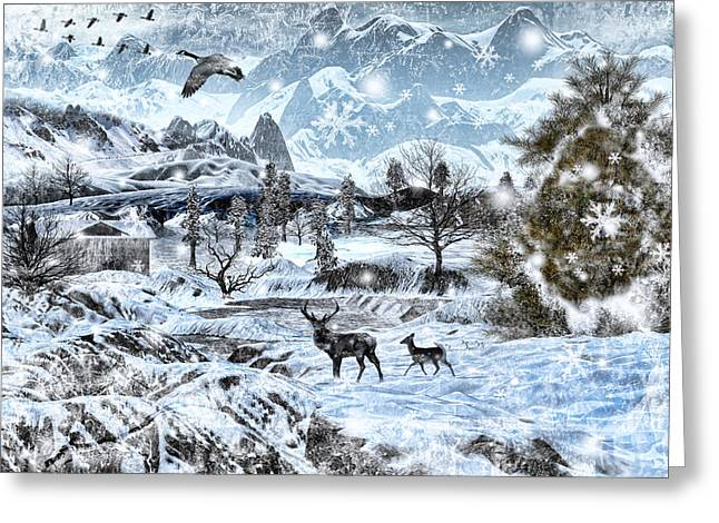Winter Wonderland Greeting Card by Lourry Legarde