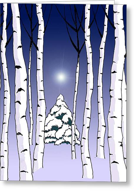 Winter Woods 1 Greeting Card