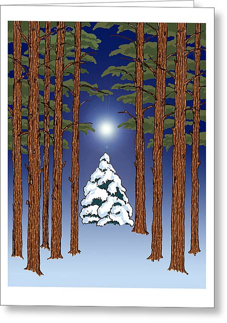 Winter Woods 2 Greeting Card