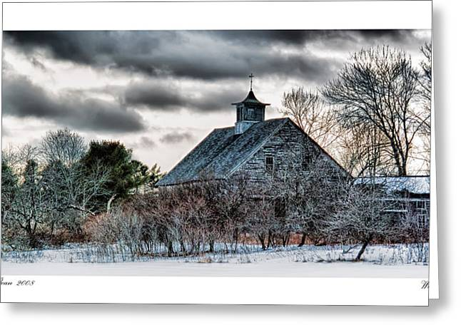 Wintering Barn Greeting Card by Richard Bean