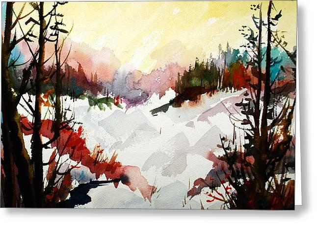 Winterlude In Muskoka Greeting Card by Wilfred McOstrich