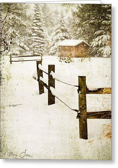 Greeting Card featuring the digital art Winter's Beauty by Mary Timman