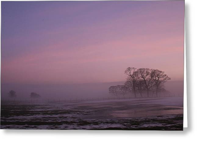 Greeting Card featuring the photograph Winters Eve by David Grant
