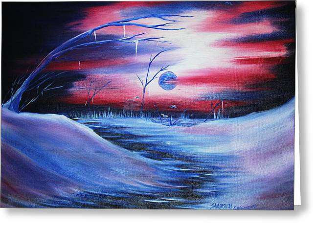 Winter's Frost Greeting Card by Shadrach Ensor