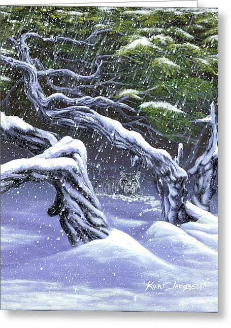 Greeting Card featuring the painting Winters Ghost by Kurt Jacobson