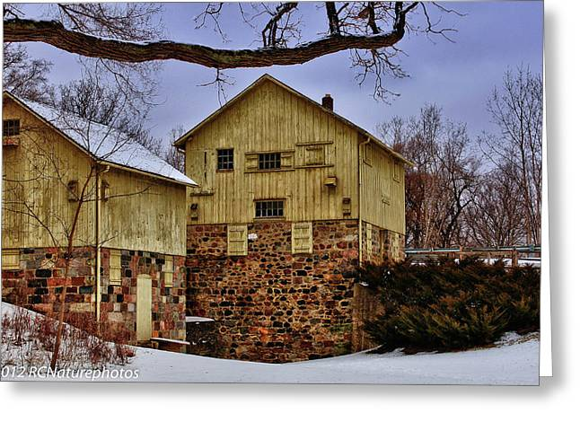 Greeting Card featuring the photograph Winters Mill by Rachel Cohen