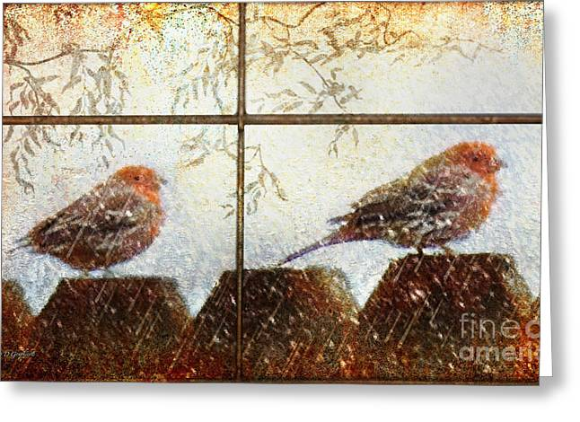 Greeting Card featuring the digital art Winter's Song by Rhonda Strickland