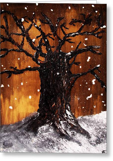 Wintertree 3 Greeting Card