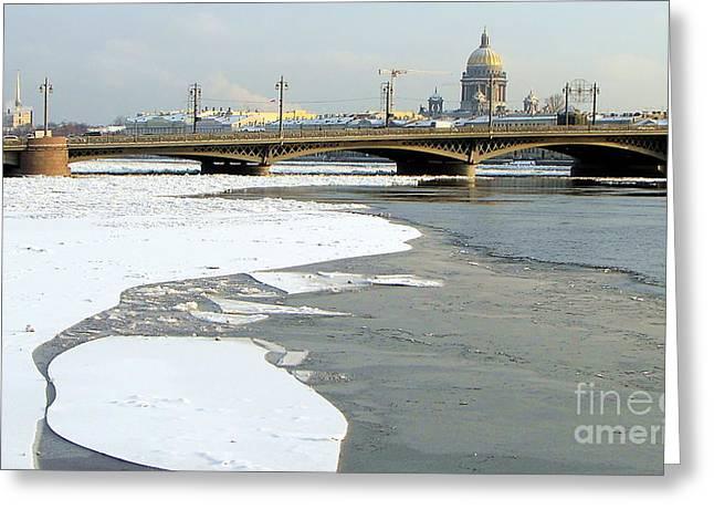 Winterwinterpeterburg Greeting Card by Yury Bashkin