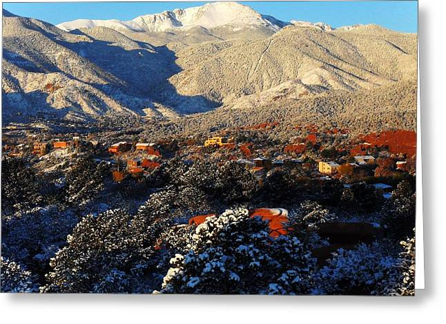Wintery Colorado Morning Greeting Card by Clarice  Lakota