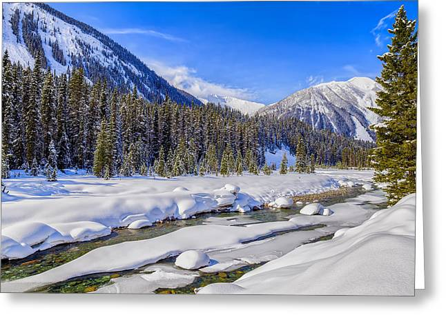 Wintery Numa Creek Greeting Card