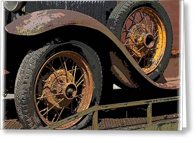 Wire Wheels Greeting Card