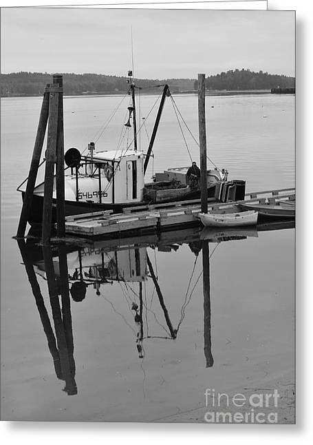Wiscasset Reflection Greeting Card by Catherine Reusch  Daley