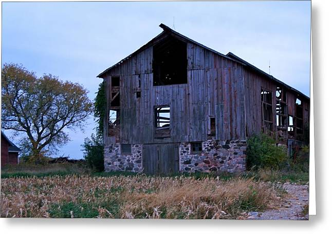 Greeting Card featuring the photograph Wisconsin Barn by Kristine Bogdanovich