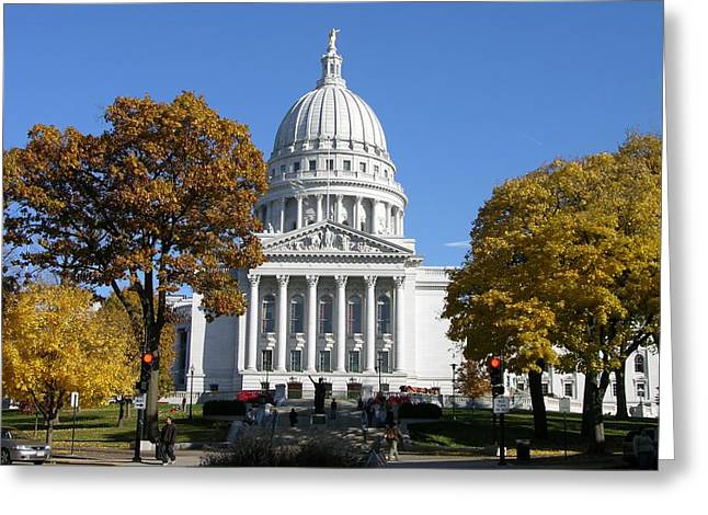 Wisconsin State Capitol Building Greeting Card by Keith Stokes