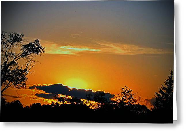 Wisconsin Sunset Greeting Card