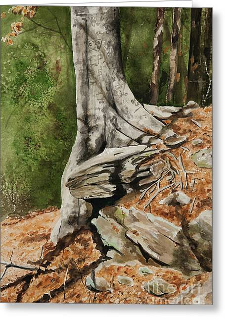 Wishing Tree Greeting Card by Carla Dabney
