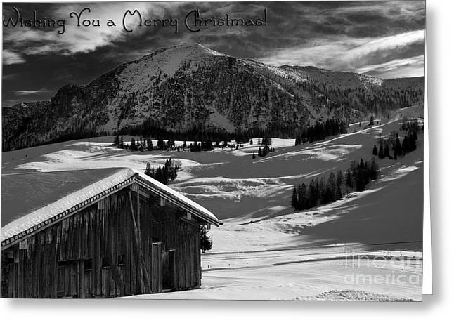 Wishing You A Merry Christmas Austria Europe Greeting Card by Sabine Jacobs