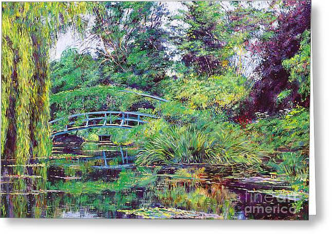 Wisteria Bridge Giverny Greeting Card by David Lloyd Glover