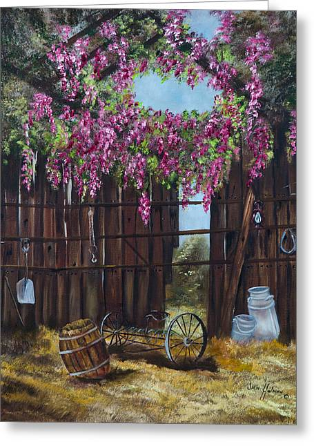 Wisteria Greeting Card by Jan Holman