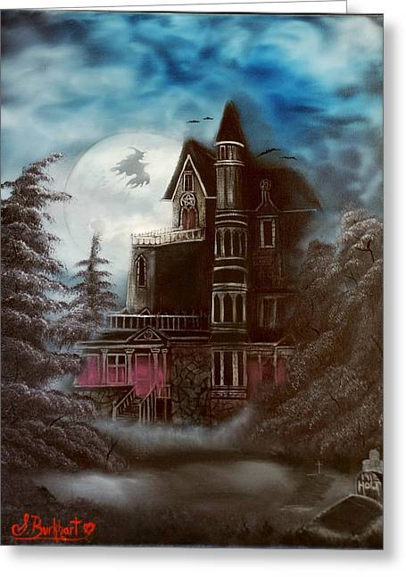 Witches Hollow 2011 Greeting Card by Shawna Burkhart