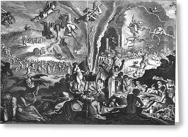 Witches Sabbath Greeting Card by Granger