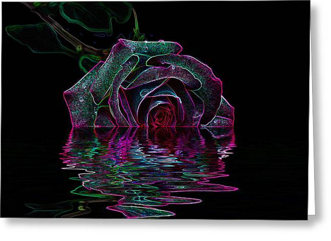 With A Glow Greeting Card by Doug Long