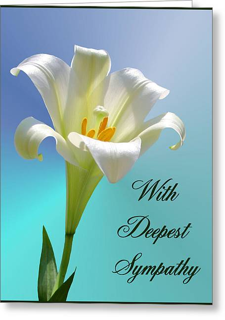 With Deepest Sympathy Greeting Card by Kristin Elmquist