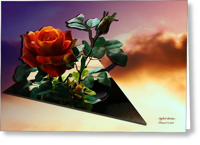 With Love Greeting Card by Itzhak Richter