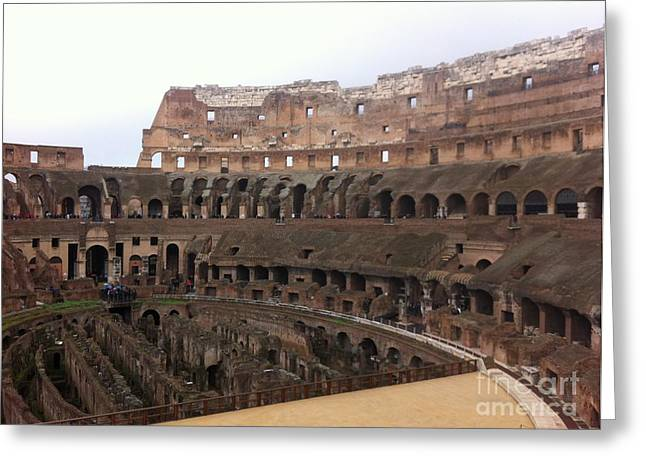 Within The Colosseum Greeting Card by Richard Chapman