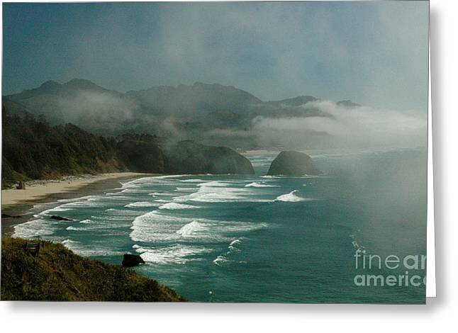 Within The Fog Greeting Card by Johanne Peale