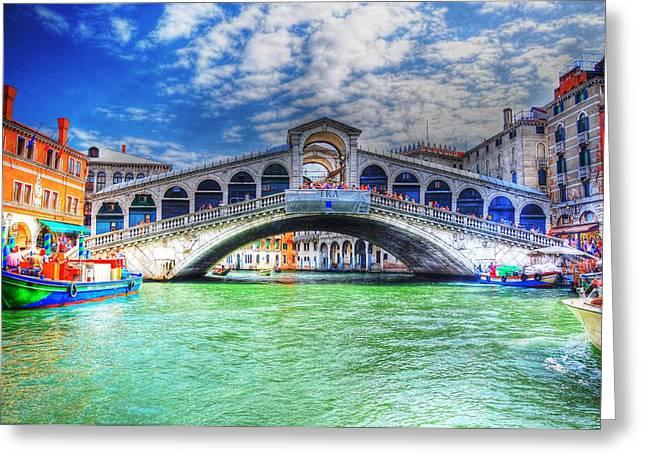 Woke Up In Venice Greeting Card by Barry R Jones Jr