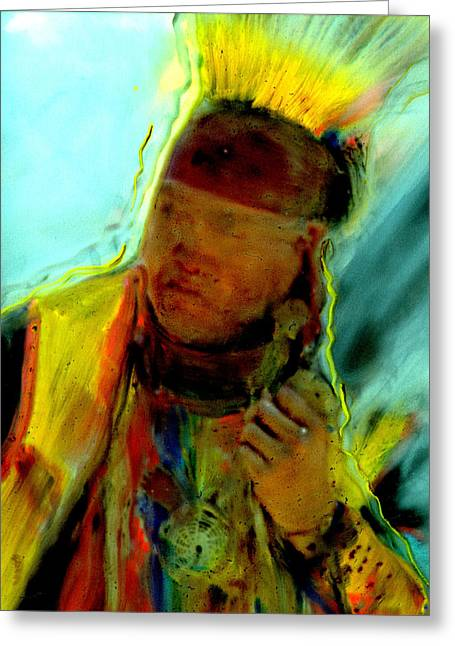 Wokini..seeking A New Beginning Greeting Card by FeatherStone Studio Julie A Miller