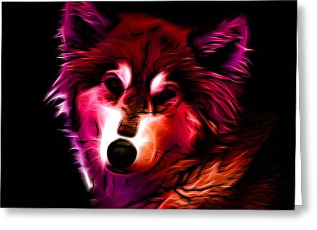 Wolf - Red Greeting Card