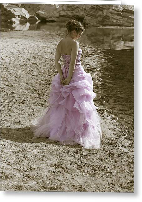 Woman At The Beach Greeting Card by Joana Kruse