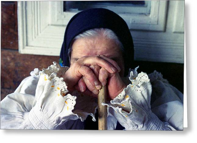 Woman From Maramures Romania Greeting Card by Emanuel Tanjala