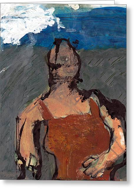 Woman In Landscape 2 Greeting Card by JC Armbruster